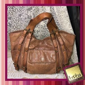 Kooba Snake Leather Hobo Bucket Bag GOOD CONDITION
